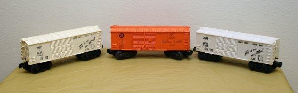 2623: Lionel O Gauge Boxcar Lot