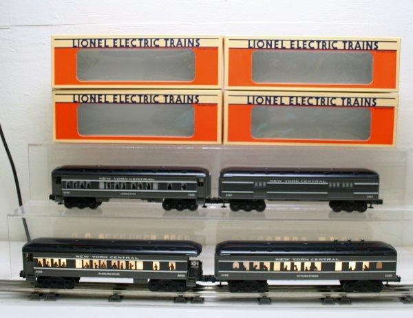 2666: Lionel O Gauge Passenger Car Set NYC