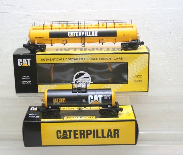 2697: MTH O Gauge Caterpillar Cars 30-7337, 20-96063