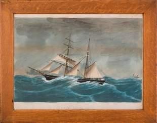 Folk Painting of the Ship Shamrock, Feb. 1897.