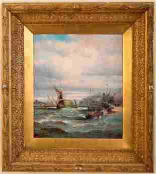 Two British Paintings of Nautical Scenes.