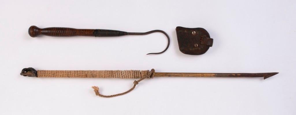 Small Harpoon and a Gaff Hook.