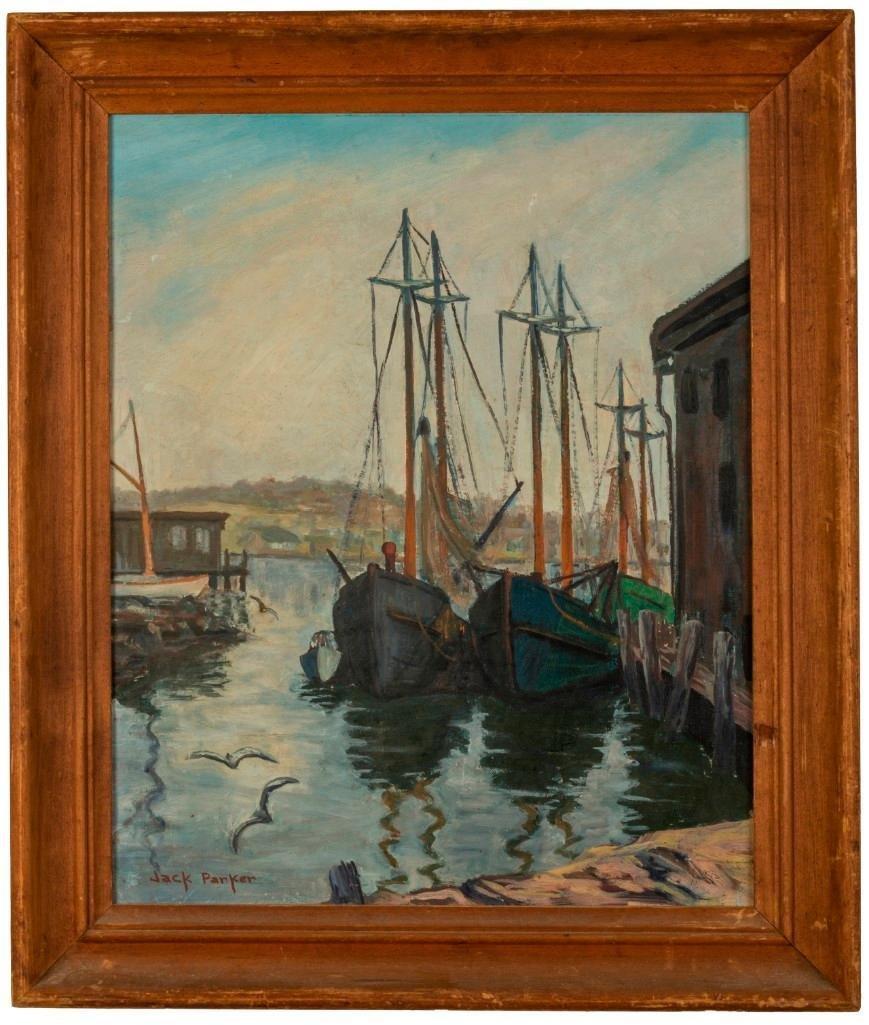 Jack Parker. Ships at Dock.