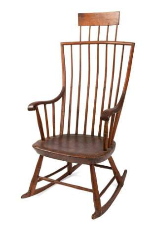 Comb Back Windsor Rocking Chair.
