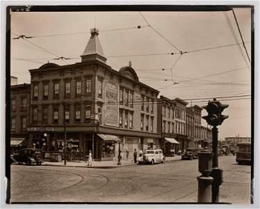 Berenice Abbott. Graham & Metropolitan Ave, Brooklyn.