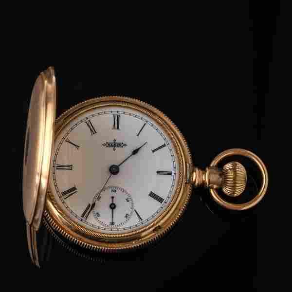 Elgin 14K Gold Lady's Pocket Watch.