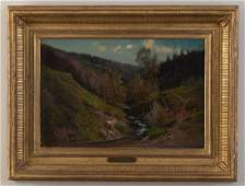 Carl Phillip Weber (1849-1922). Mountain Stream.