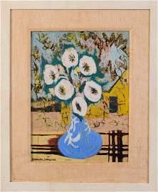 Bernard Langlais(1921 - 1977). Vase of Flowers.