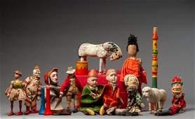Large Group of Schoenhut Toys.