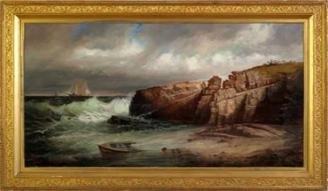 Harrison Bird Brown. Ships in Casco Bay.