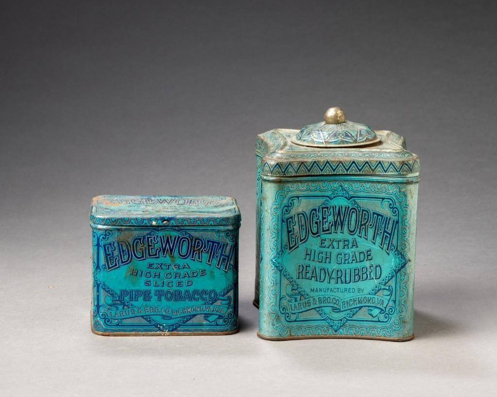Two Edgeworth Tobacco Tins.