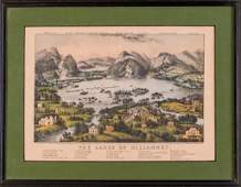 Currier  Ives The Lakes of Killarney