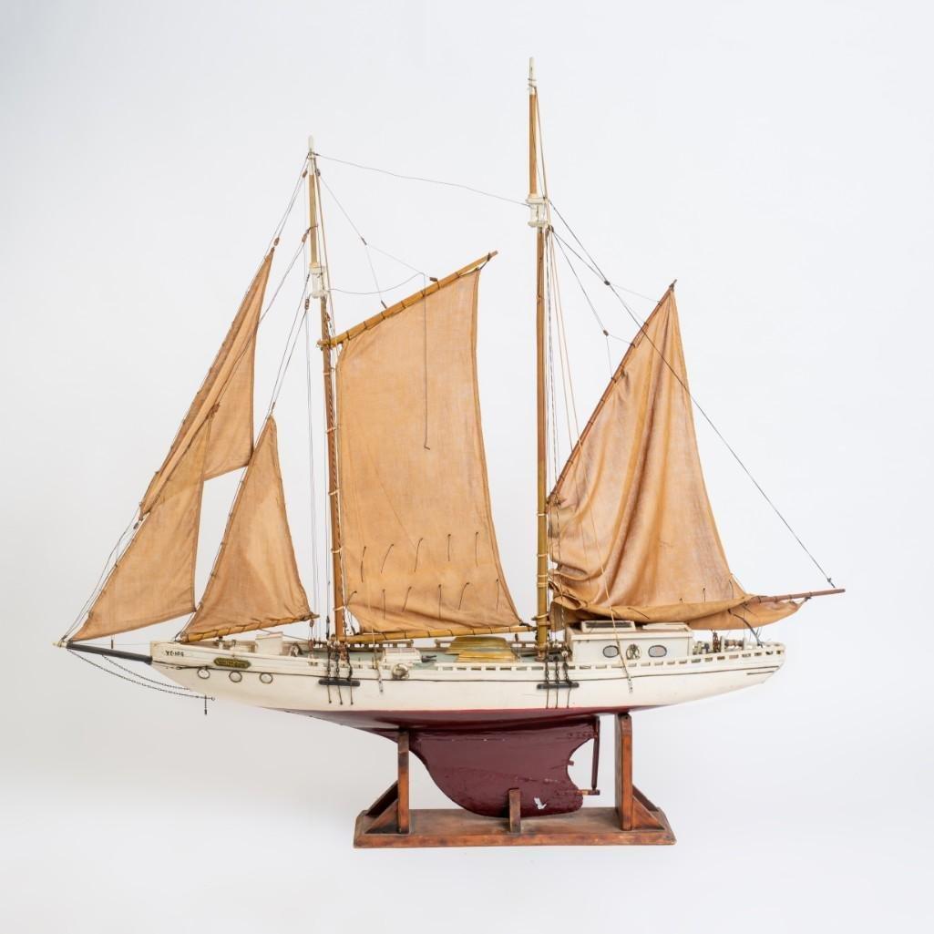 Two Masted Schooner Model White Dove.