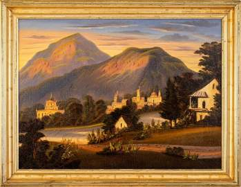 Thomas Chambers (1808-1869). Hill Townscape [Mexico?]