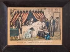 N. Currier. Death of Washington.