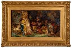 Domestic Scene, attr. Adolphe J. T. Monticelli