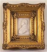 Alabaster Carved Relief Portrait.