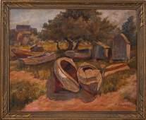 Frank Hendry A Huddle of Boats