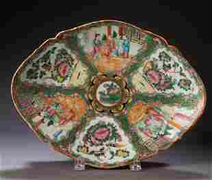 Chinese Rose Medallion Footed Dish.