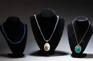 Group of Three Necklaces.