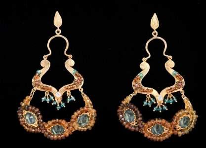Bohemian Gold Earrings.