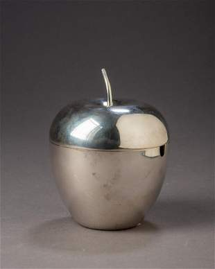 Shreve, Crump & Low Sterling Silver Apple Caddy.