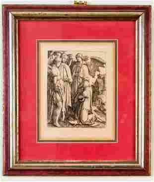 Lucas Van Leyden. Abraham and Three Angels.