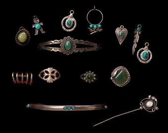 Native American Sterling Jewelry.