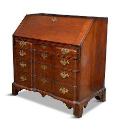 Boston Block Front Slant-Lid Desk, Circa 1770.
