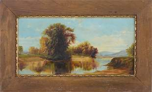 19th c. Hudson River School Landscape Painting.