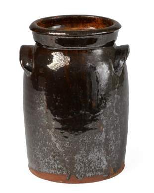 Redware Jar, Possibly Burlington, VT.