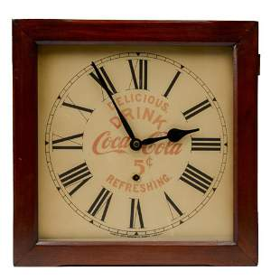 Coca-Cola Advertising Wall Clock by Ingraham.