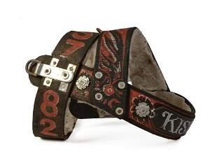 Eugene Kloszewski Painted Leather Dogsled Harness.