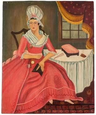 20th Century Folk Art Portrait.