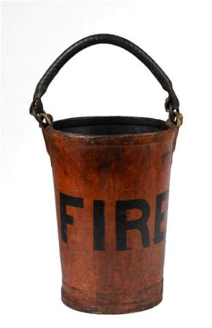 Leather Fire Bucket.