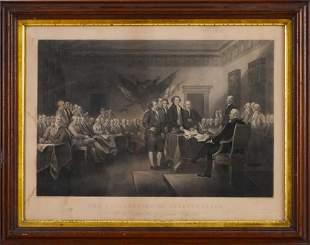 Declaration of Independence Steel Engraving.