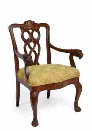 Gothic Revival Arm Chair.