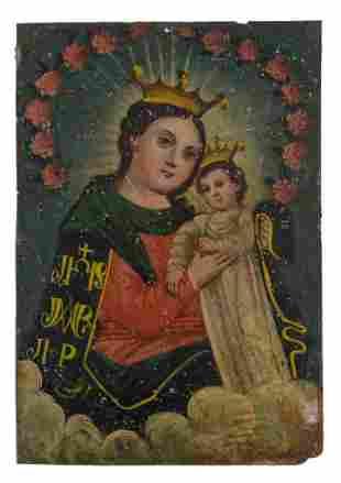 19th c. Mexican Retablo.