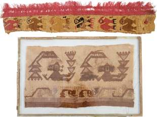 Two Pre-Columbian Textile Fragments.