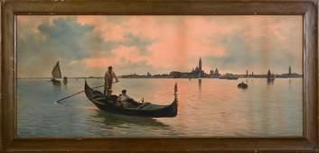 Large Alberto Prosdocimi Venetian Watercolor.