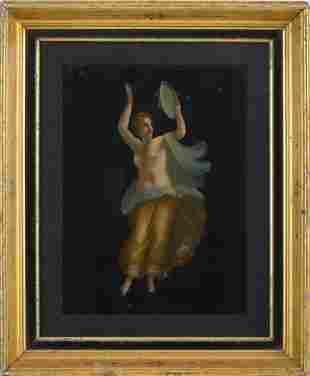Italian Grand Tour Painting of a Dancing Maenad.