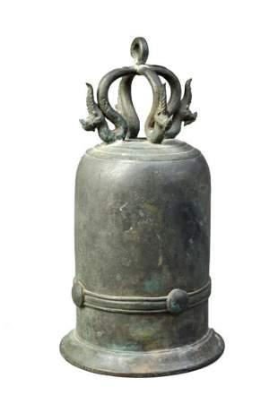 Thai Bronze Temple Bell.