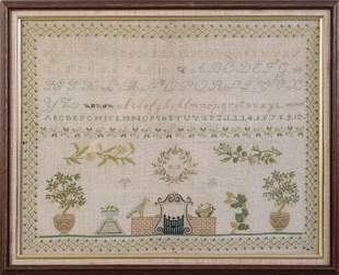 Italian Needlepoint Sampler.