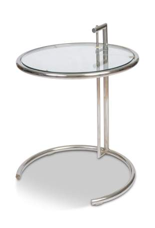 Eileen Gray Style Adjustable Side Table.