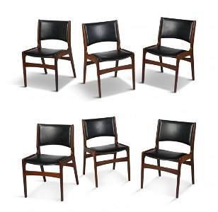 Set of Six Henning Kjaernulf Rosewood Dining Chairs