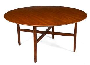 Large Round Dining Table by Knoll.