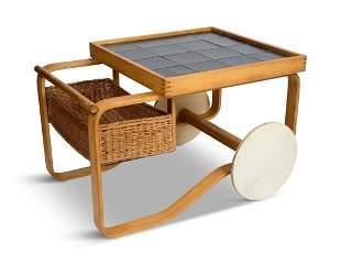 """Alvar Aalto, """"900"""" Bar Cart for Artek."""
