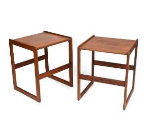 Pair of Arne Hovmand-Olsen Teak End Tables