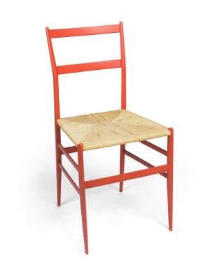 Gio Ponti Red Superleggera Chair