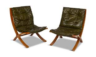 Rare Pair of Plycraft Lounge Chairs.
